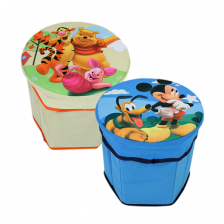 Pouf - Coffre de rangement Disney Mickey Mouse ou Winnie l'ourson